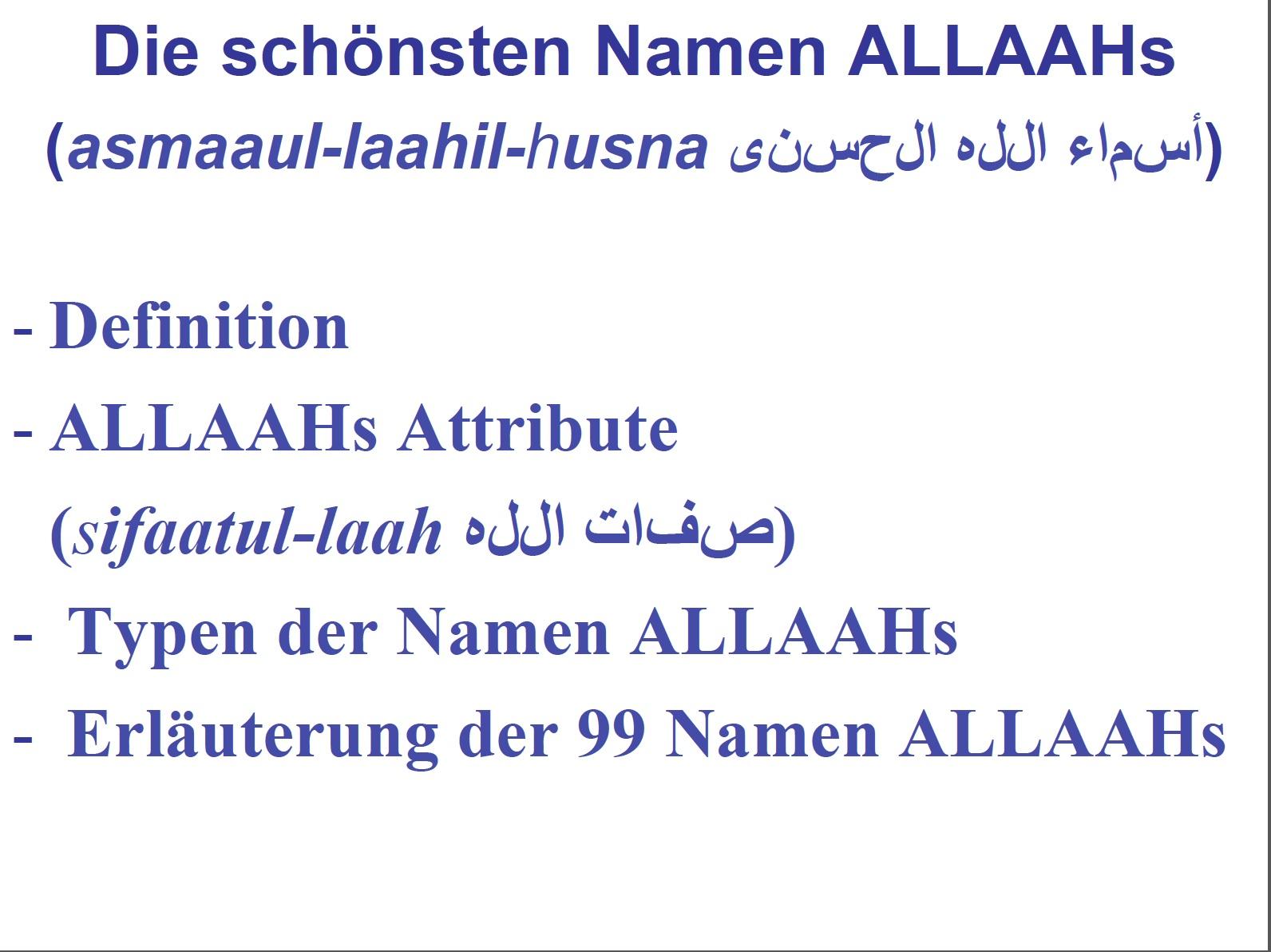 NamenAllahs